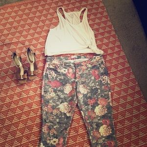 Floral pants from NY&Co